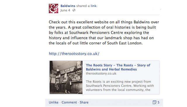 Baldwins Facebook